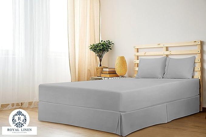 Royal Linen Collection Royal Linen Collection Hotel Quality 800tc Split Corner Bed Skirt 18