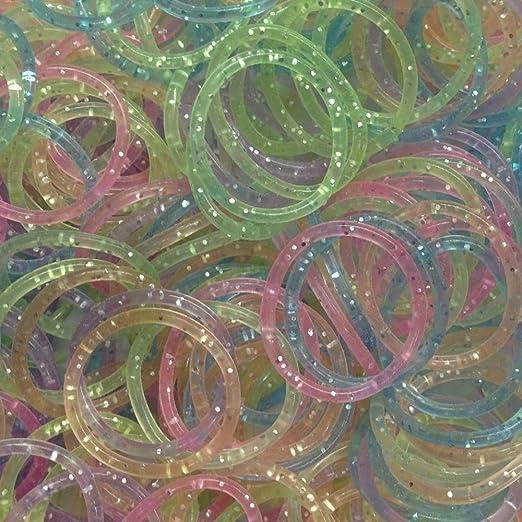 47 opinioni per ETHAHE Kit 600pz Loom Band in Gomma Bracccialetto Bracciale Colorati Glitter