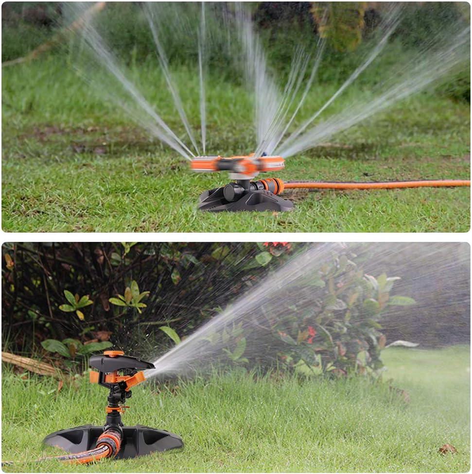 3 Arm Sprayer Automatic Lawn Sprinkler Eterbiz Garden Sprinkler Automatic 360 Rotating Adjustable Garden Water Sprinklers Lawn Irrigation System Covering Large Area