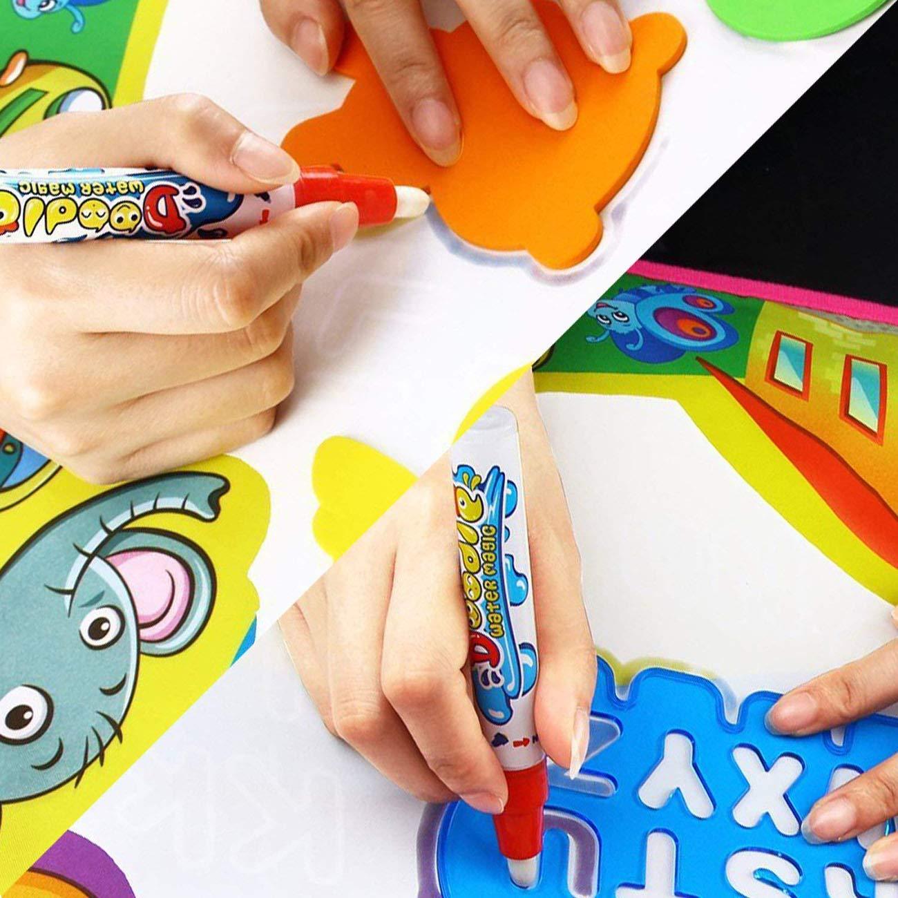 PHYLES Agua Dibujo Pintura, 87*57CM Juegos de Agua, Pizarra Mágica, Pizarra Infantil, Juguetes de Dibujo para niños, Juguete Educativo, Regalo para ...