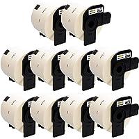 Yellow Yeti 10 Rollos DK-11202 62 x 100mm Etiquetas para envíos compatibles para Brother P-Touch QL-500 QL-570 QL-700 QL…