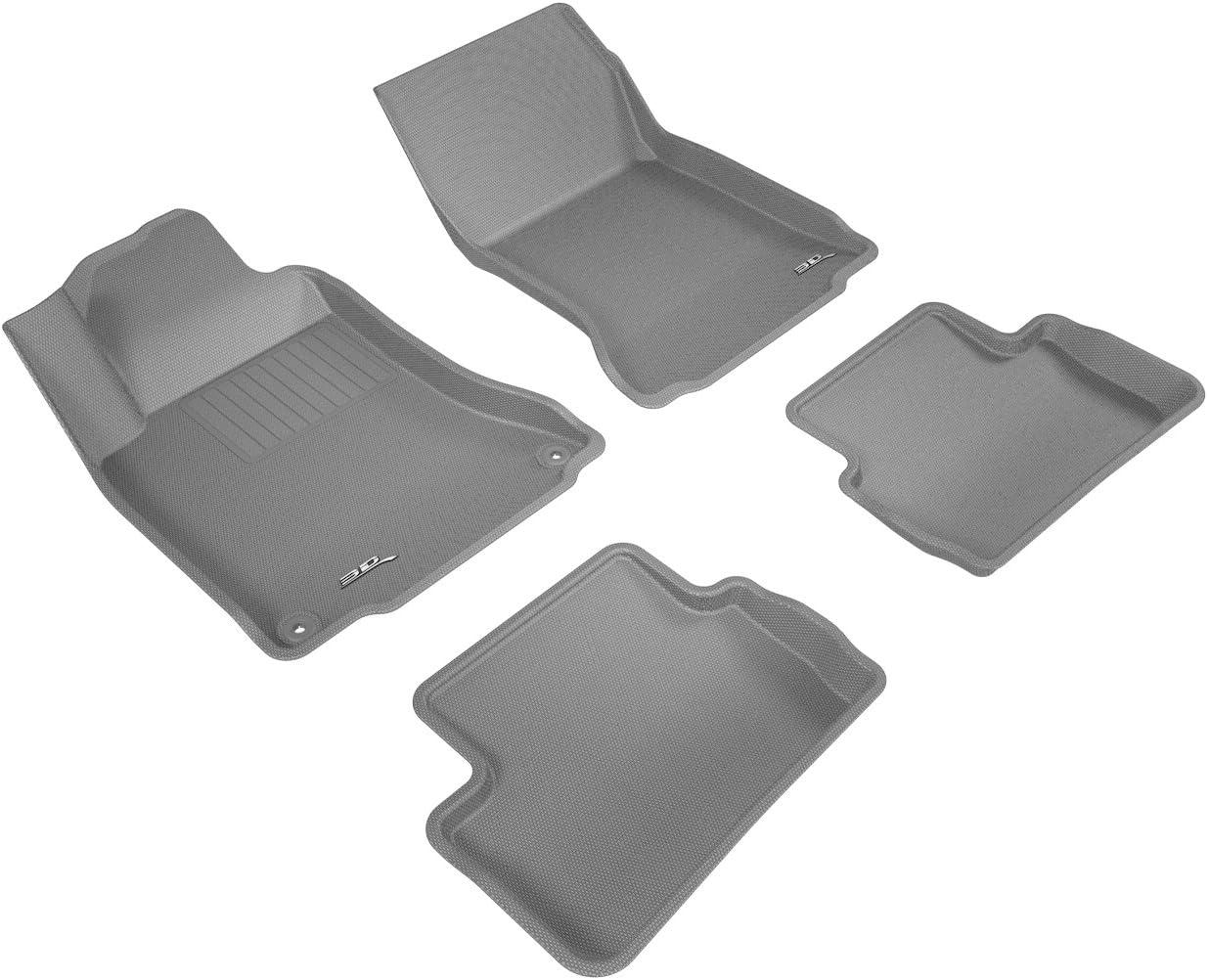 L1MB04801509 3D MAXpider Complete Set Custom Fit All-Weather Floor Mat for Select Mercedes-Benz GLA-Class Models Kagu Rubber Black