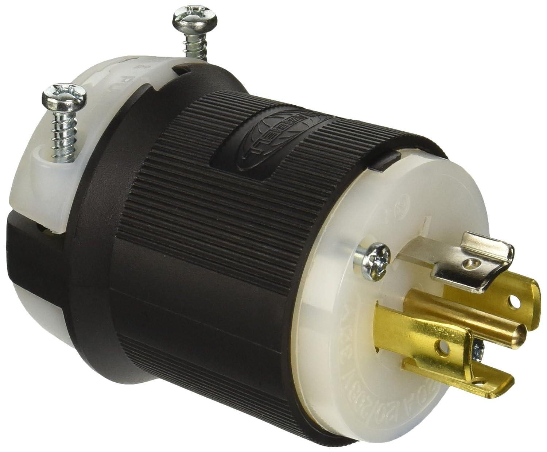 HUBBELL WIRING DEVICE-KELLEMS 2441 Plug,120//208VAC,20A,L18-20P,4P,4W,3PH