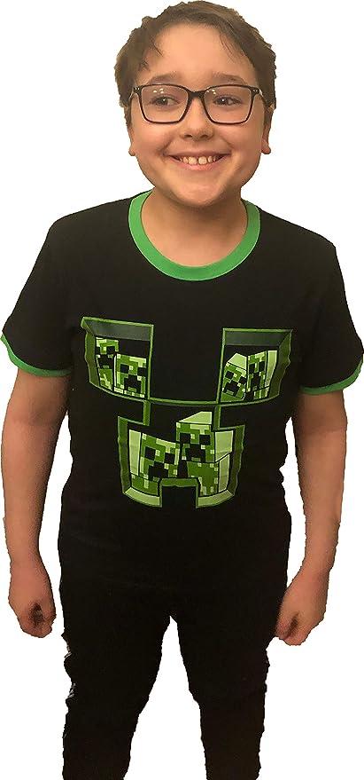 Minecraft Niño Camisetas, Polos y Camisas Negro: Amazon.es ...