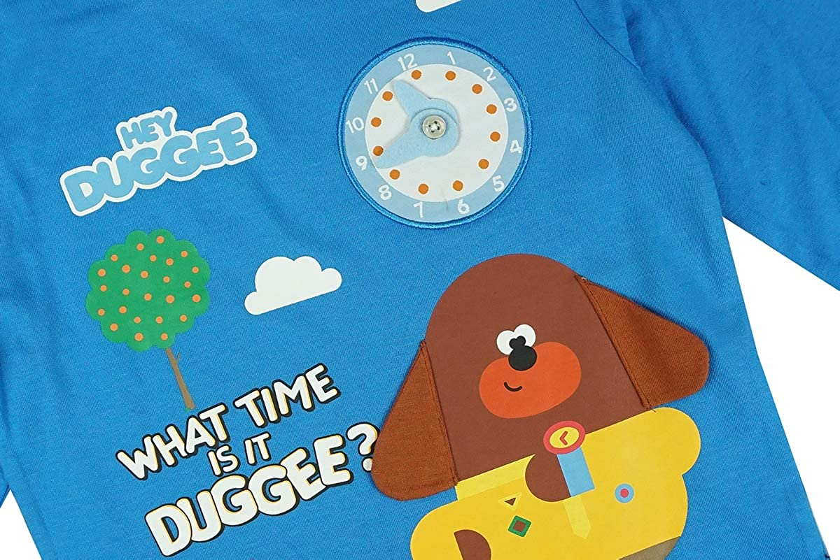 Get Wivvit Boys Hey Duggee Interactive What Time is It Long Sleeve T-Shirt Top Sizes from 1 to 6 Years