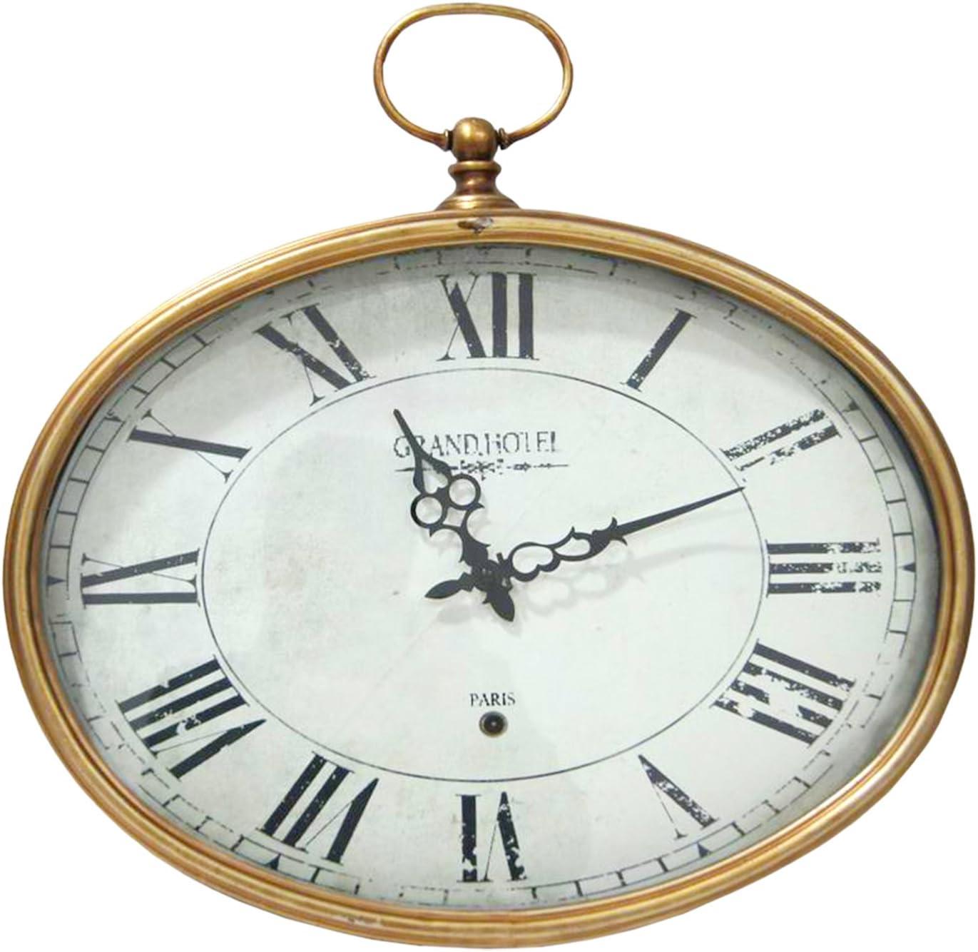Stratton Home Decor S02199 Oval Wall Clock Gold Amazon Ca Home Kitchen