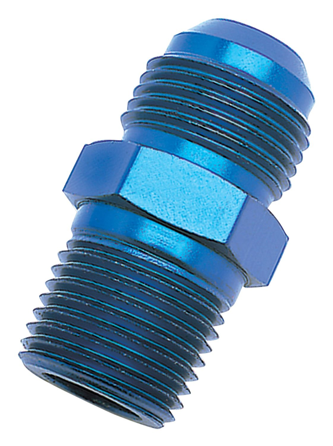 6AN Flare to 1//2 Pipe Pressure Adapter Russell 670150 Blue Anodized Aluminum