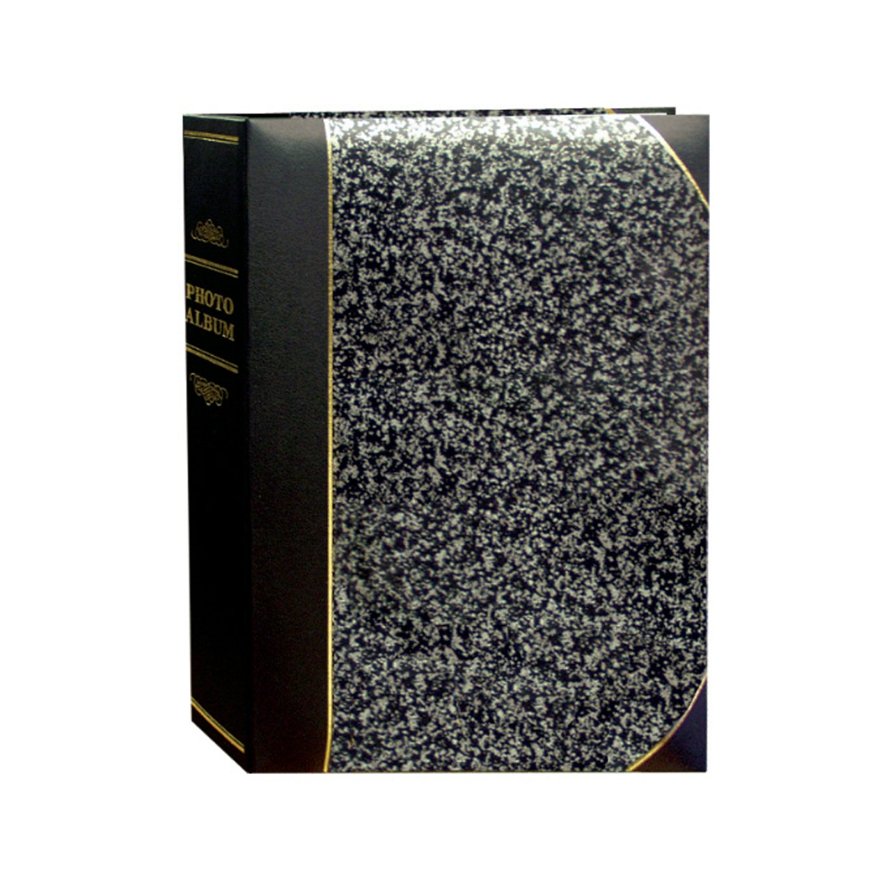 Pioneer Photo Albums BT-68 100-Pocket Leatherette Cover Ledger Style Le Memo Photo Album, 6 by 8-Inch, Silver and Black BT-68/SM