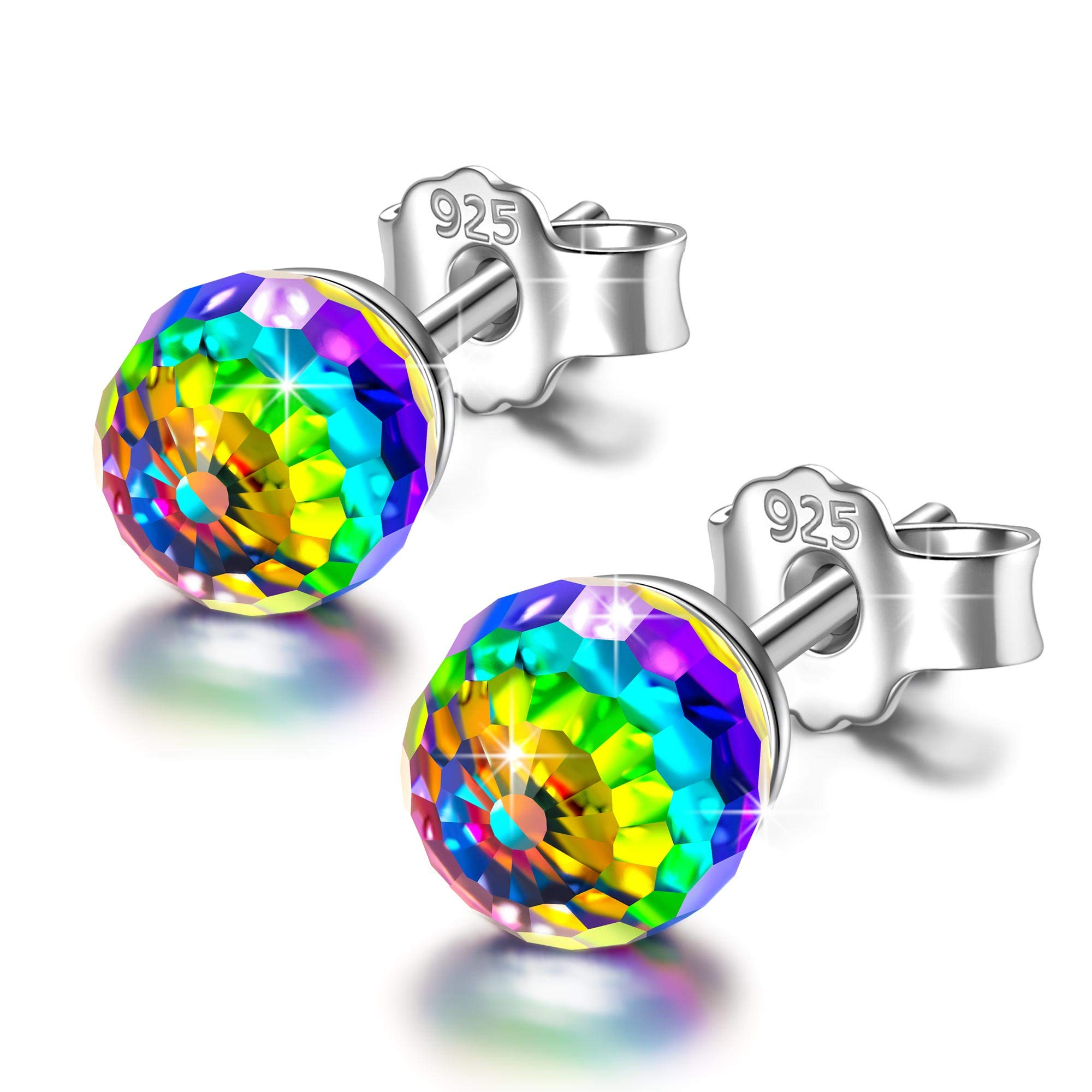 stud earrings for women girls swarovski earrings for teen girls daughter valentines anniversary gift for wife girlfriend birthday gifts for mom sister crystals earrings jewelry love wedding present