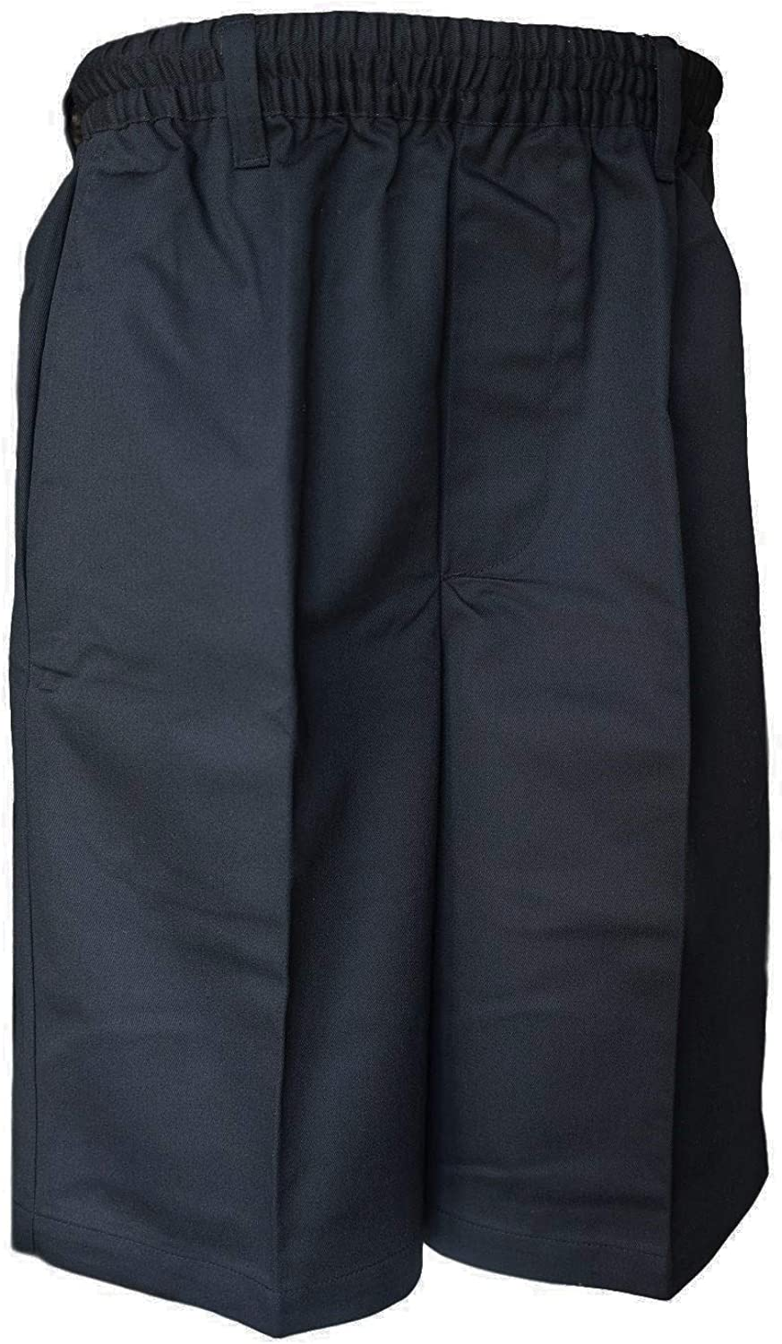 Benefit Wear Mens Full Elastic Waist Pull-On Shorts with Mock Fly