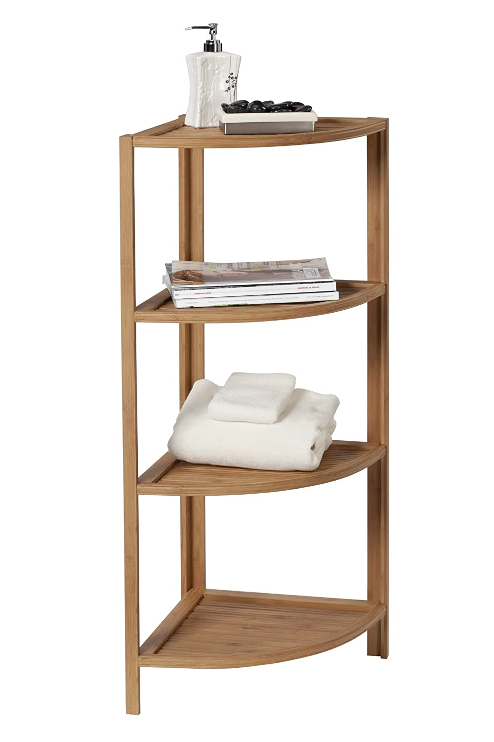 Superieur Amazon.com: Creative Bath Eco Styles 4 Shelf Corner Tower, Natural/Bamboo:  Home U0026 Kitchen
