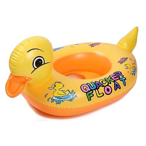 honfei niños bebé niño con diseño de pato inflable flotador de natación vueltas piscina flotador asiento
