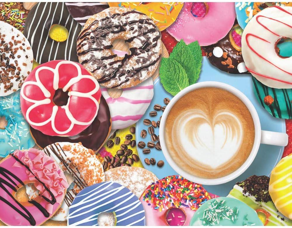 Springbok's 500 Piece Jigsaw Puzzle Donuts N' Coffee