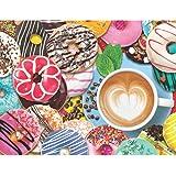 Springbok 500 Piece Jigsaw Puzzle Donuts N' Coffee