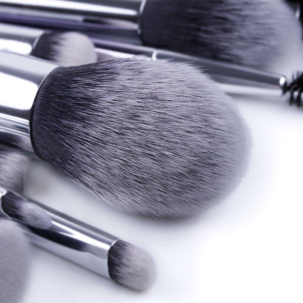 DUcare Brochas de Maquillaje Profesional 17 PCS Púrpura Color Base de Cara Sombra de Ojos Delineador de ojos Resaltador Kits de pinceles de maquillaje: Amazon.es: Belleza