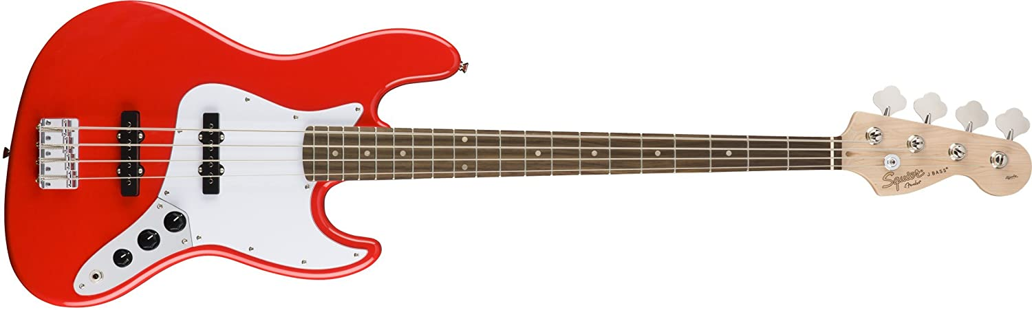 Squier by Fender エレキベース Affinity Series Jazz Bass, Laurel Fingerboard, Race Red B07F2L93BB レースレッド レースレッド