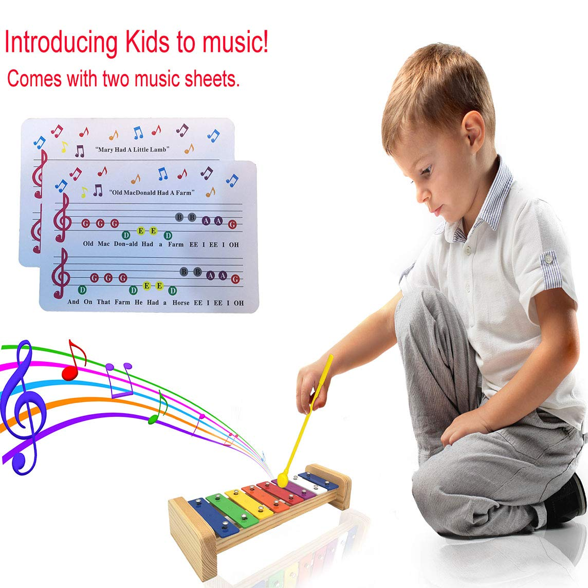 XIYITOY Xylophone for kids,The First Birthday Gift for kids 1-3 Year Old Girl,Boys,Musical Kid Toy for Kids for 4-8 Year Old Boys Gift,Whith Two Child-Safe Mallets for 2-6 Year Old for Making Fun Musi by XIYITOY (Image #5)
