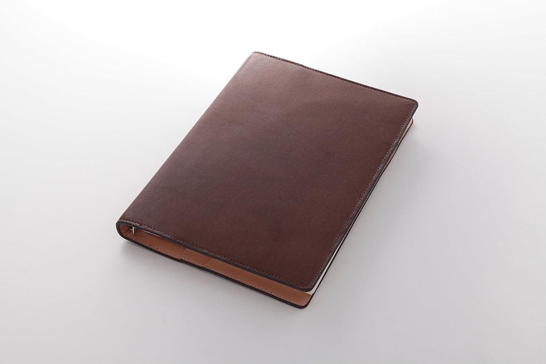 ダヴィンチ グランデ システム手帳 アースレザー ダークブラウン A5サイズ  リング15mm davinci   B00OVKVJ96