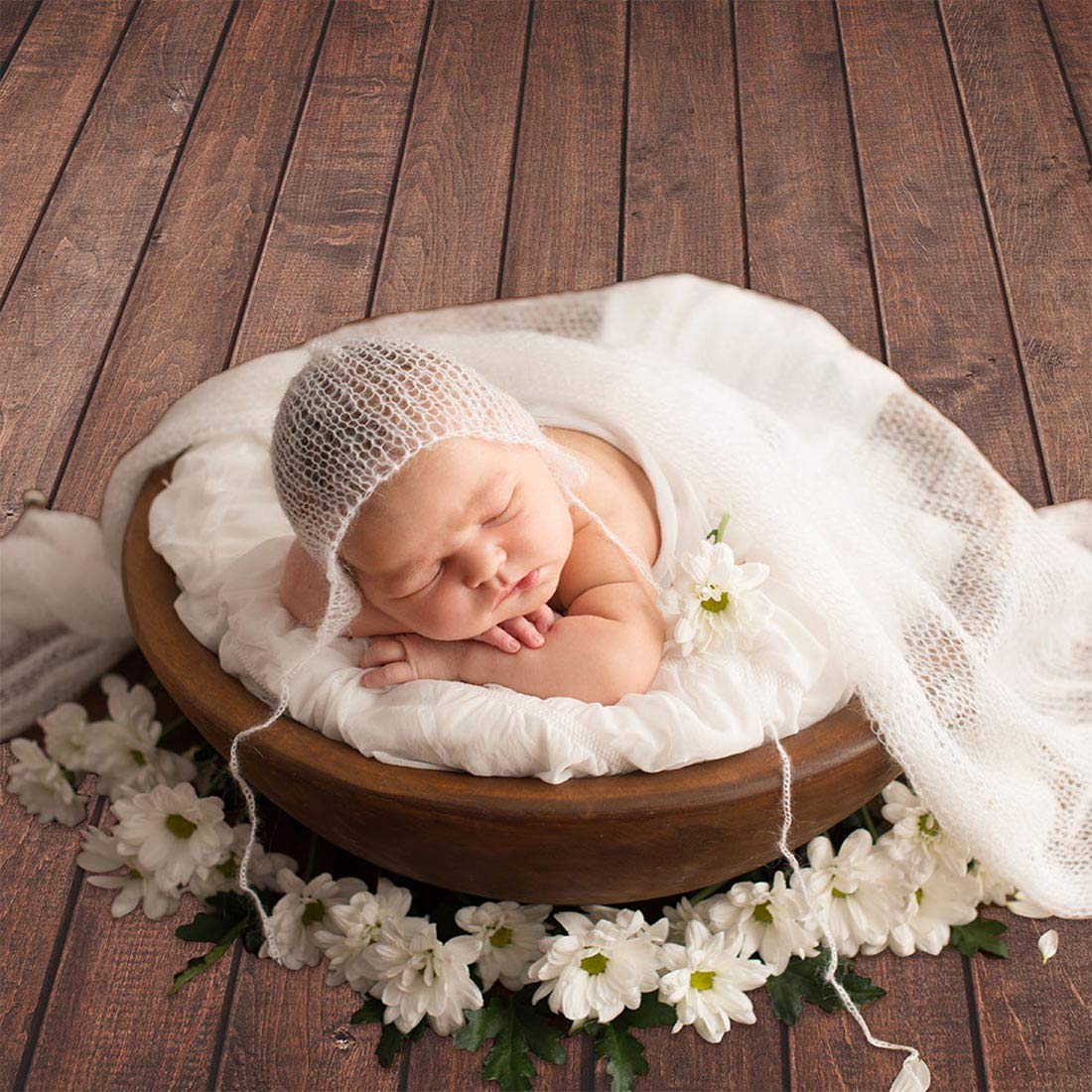 Allenjoy 7x5ft Fabric Vintage Brown Wood Backdrops for Newborn Photography Wrinkle Free Rustic Russet Grunge Wooden Floor Planks Wall Baby Portrait Still Life Product Photographer Photo Studio Props by Allenjoy (Image #3)