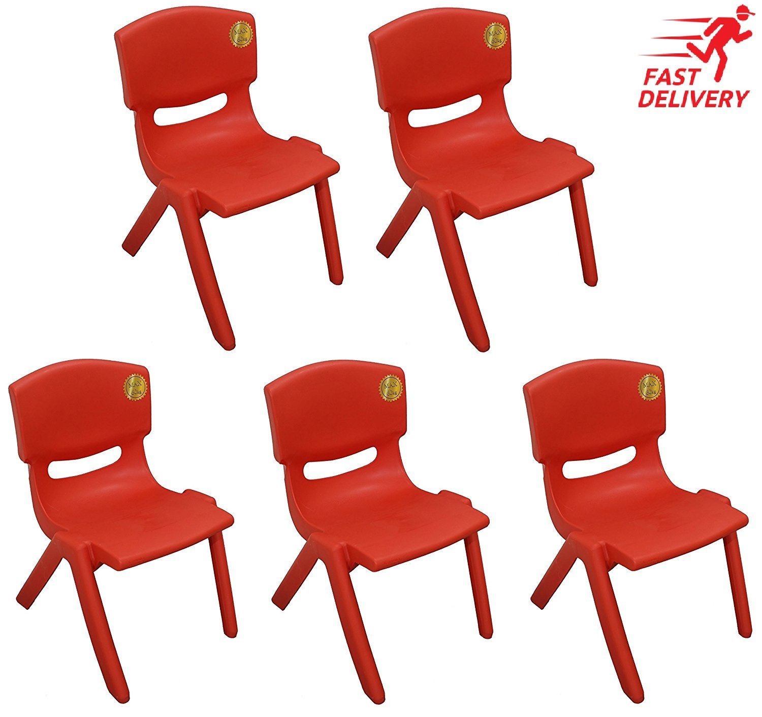 10x Children Strong Stackable Kids Plastic Chairs A406
