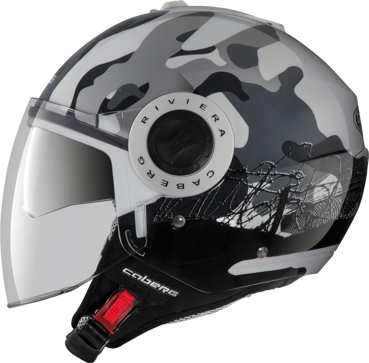 Amazon.com: Caberg Riviera V2+ Open Face Motorcycle Helmet Commander Small: Automotive