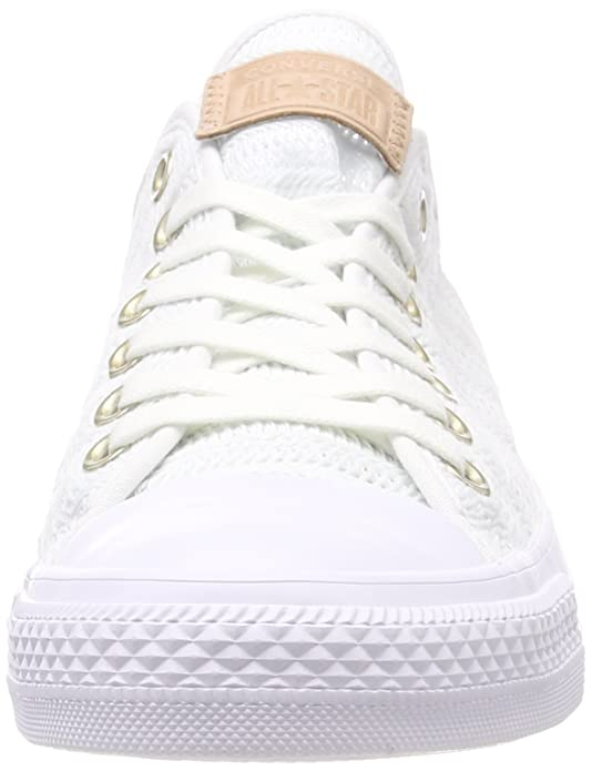 Converse Women's CTAS Ox Tan/Mouse Trainers, White