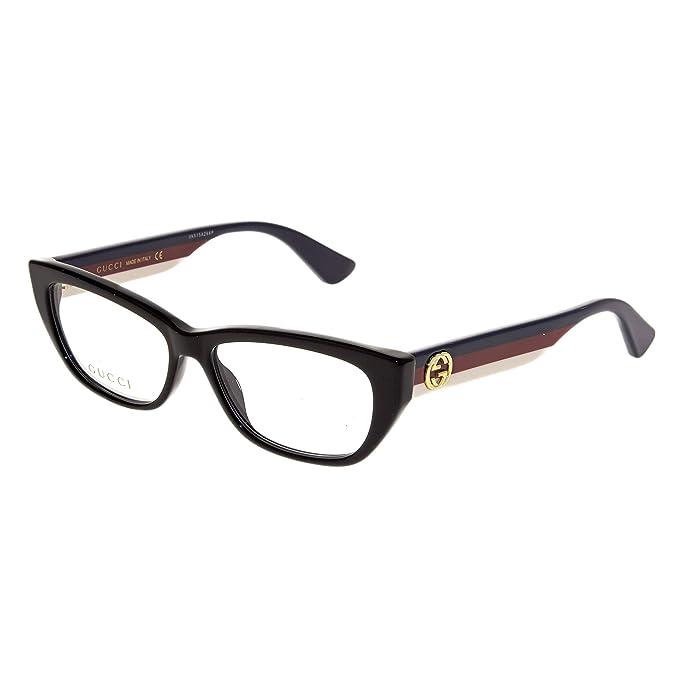 38eb812b3b Gafas de Vista Gucci GG0277O BLACK mujer: Amazon.es: Ropa y accesorios
