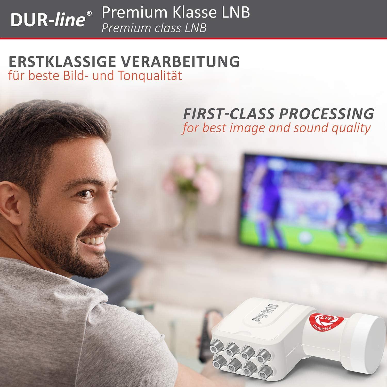 Ultra LNB – con Filtro LTE Test Muy Bueno Ganador X-fach 4K DUR-line Digital 3D Full HD