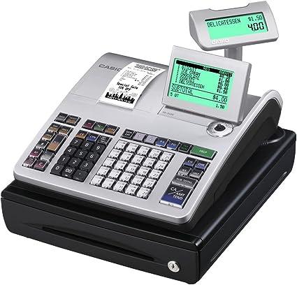 Casio SE-S400SB-SR GDPdU - Caja registradora (10 líneas en pantalla), color plateado y negro: Amazon.es: Oficina y papelería