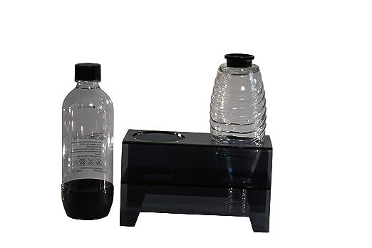 flexiPLEX bottledry Twin Escurridor Plana y Soporte de Botella en Gris para Botellas de plástico/Botellas de Cristal: Amazon.es: Hogar