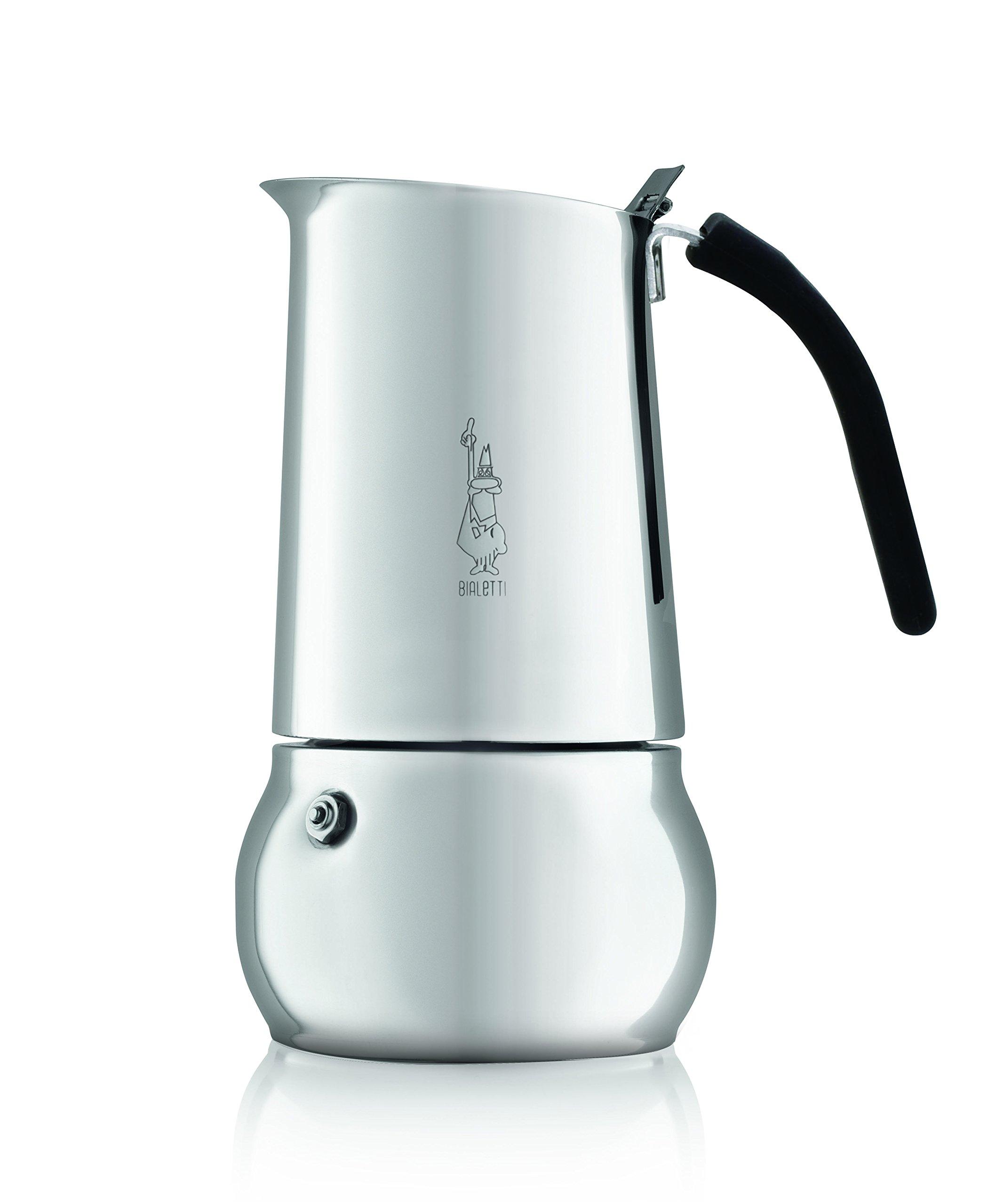 Kitty 4 Cups Stainless steel Moka Espresso maker