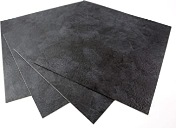 ROSEROSA Peel and Stick Engineered PVC Tiles Stone Concrete Pattern Durable Vinyl Flooring ECK-204 : Square 4 Tiles