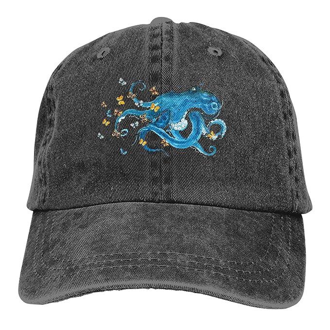 Blue Octopus Butterfly Silhouette 2019 Gorras Gorra de béisbol Sombrero Deportivo: Amazon.es: Ropa y accesorios
