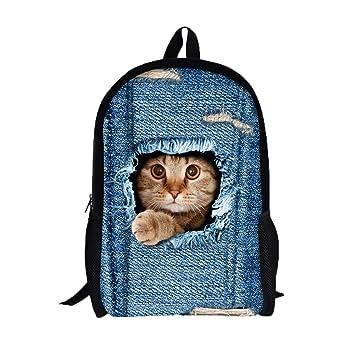 mochilas escolares juveniles, Sannysis mochilas mujer viaje, Gatos 3d impresiones (D): Amazon.es: Deportes y aire libre