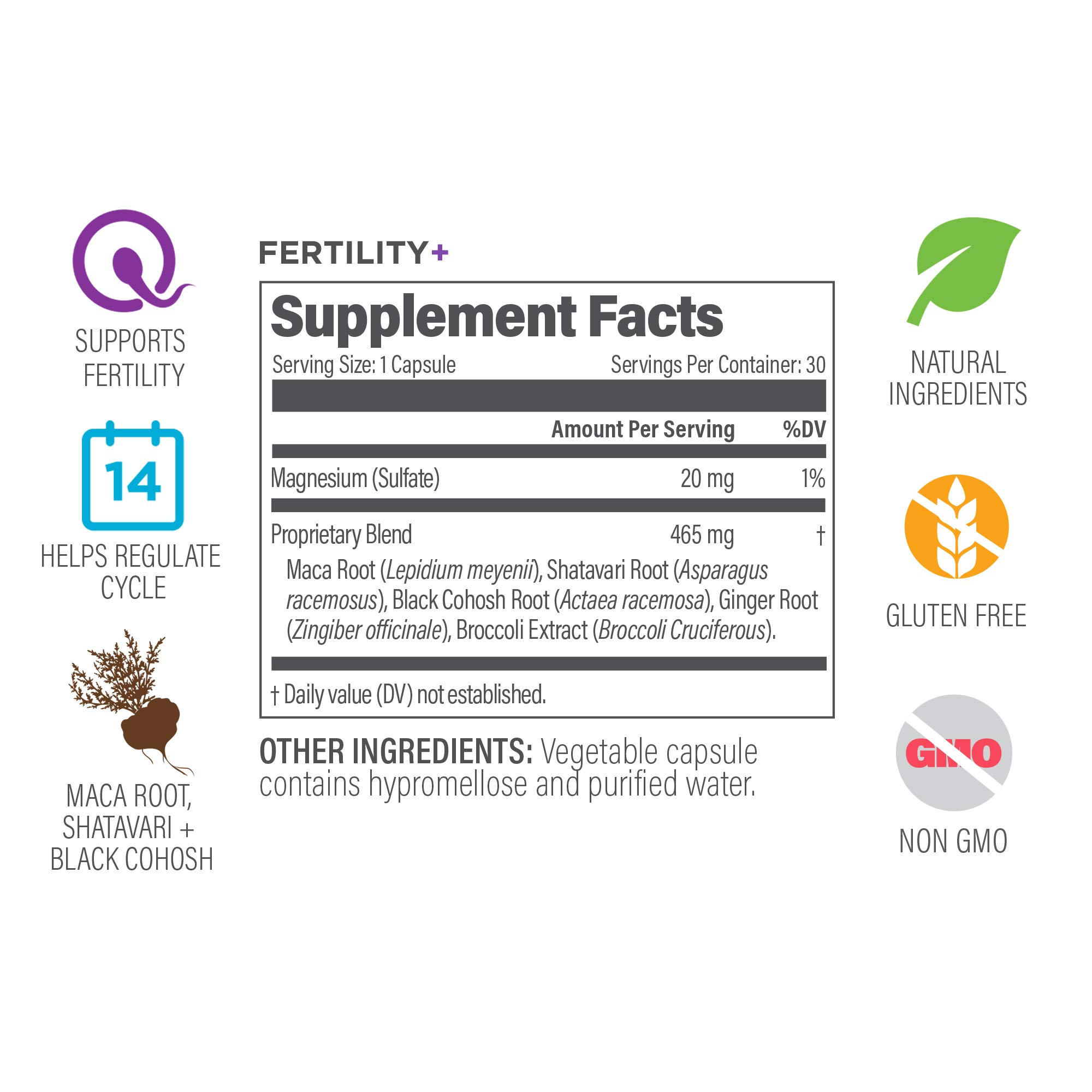 UpSpring Baby Fertility+ Pills for Women to Support Ovulation and Egg Quality with Black Cohosh, Maca Root and Shatavari, Preconception and PCOS Supplement