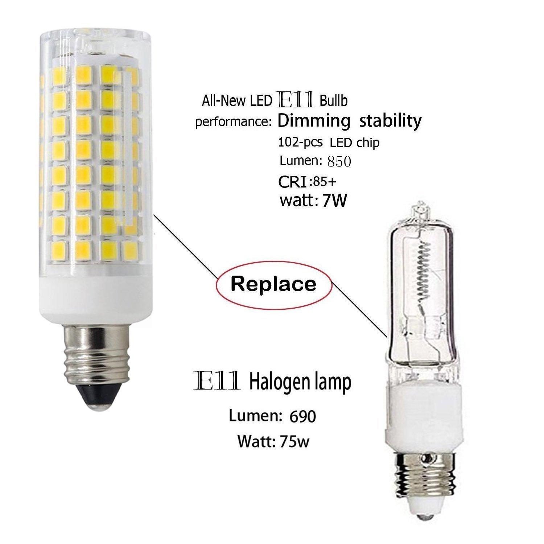 E11 led bulb 75w or 100w equivalent halogen replacement lights e11 led bulb 75w or 100w equivalent halogen replacement lights dimmable mini candelabra base 850 lumens daylight white 6000 ac110v 120v 130v aloadofball Gallery