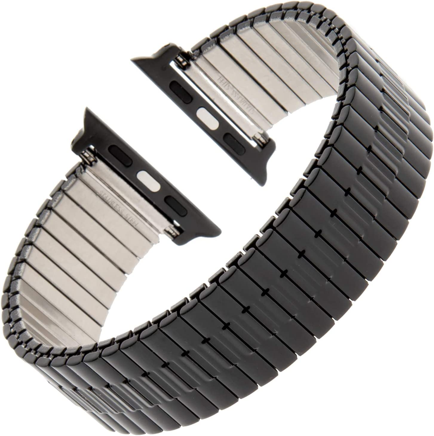 Gilden for Apple 42mm/44mm Expansion Wide Black Stainless Steel Metal Watch Band 552W-BL-SMART-L