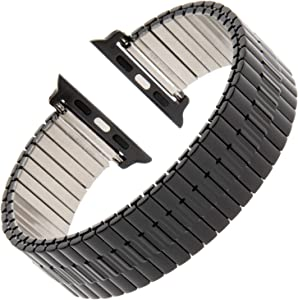 Gilden for Apple 38mm/40mm Expansion Wide Black Stainless Steel Metal Watch Band 552W-BL-SMART-S