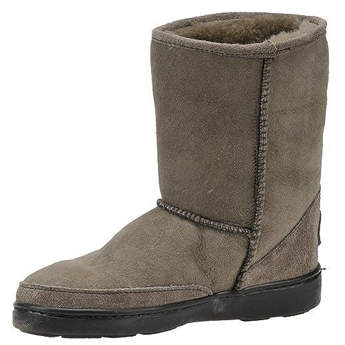 Minnetonka Pug Lammfellstiefel Boot grau, Größe:39: Amazon.de: Schuhe &  Handtaschen