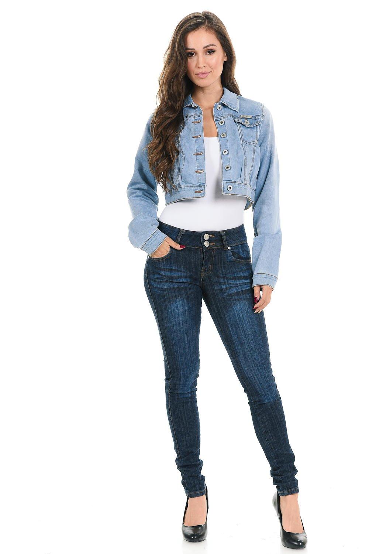 Sweet Look Women's Denim Jacket - Style 292 - Blue - Size Small