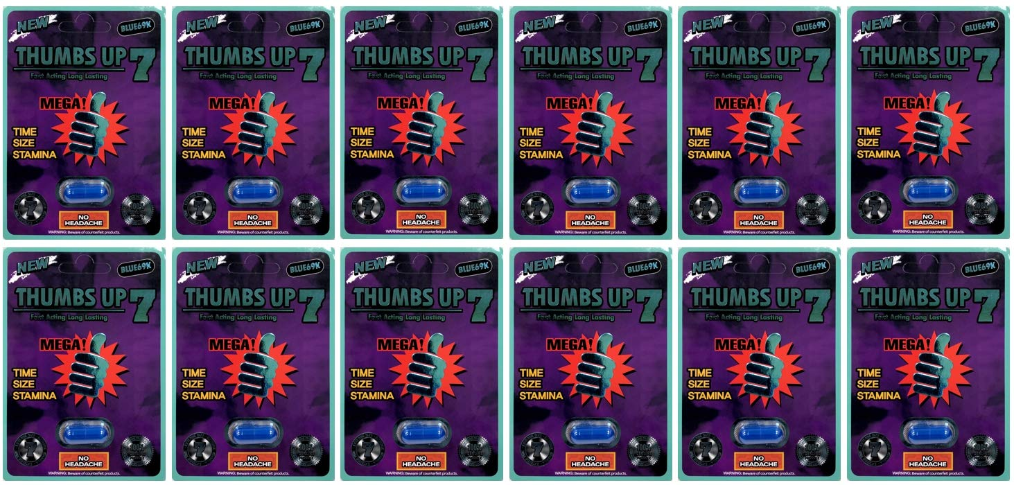 Thumbs Up 7 Blue 69K 12Pills Best Male Enhancing Natural Performance Capsules New Premierzen Most Effective Natural Amplifier for Performance, Energy, and Endurance (Blue(12PILL))