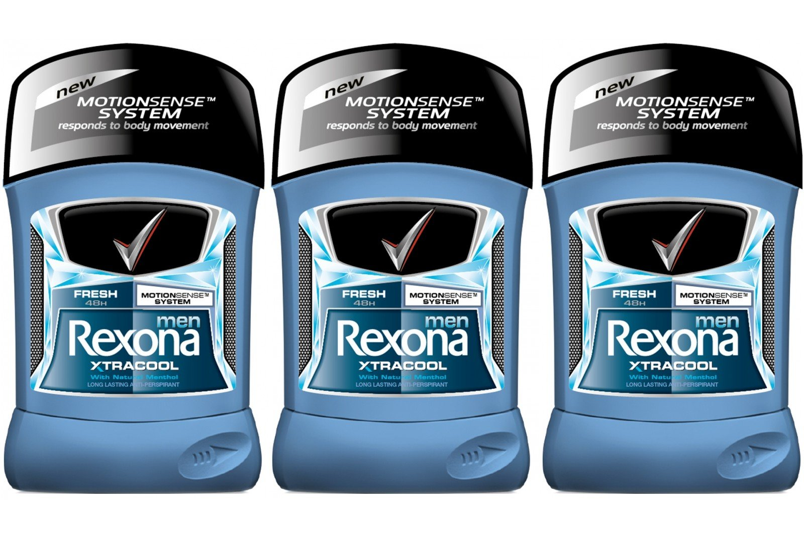 Rexona Men Motion Sense Xtra Cool Deodorant Stick 40ml / 1.35 Oz Travel Size (Pack of 3)