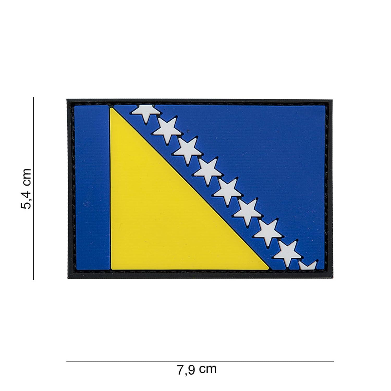 Tactical Attack PVC Bosnien Softair Sniper PVC Patch Logo Klett inkl gegenseite zum aufn/ähen Paintball Airsoft Abzeichen Fun Outdoor Freizeit