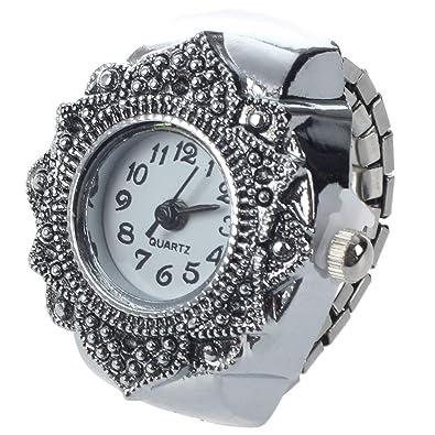 SODIAL(R) Anillo Reloj Tibet plata Forma Flor Ajustable Nuevo 22mm: Amazon.es: Joyería