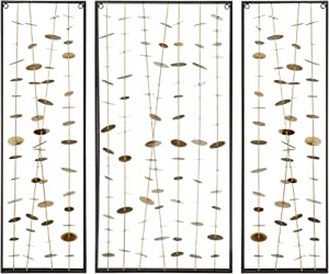 MADISON PARK SIGNATURE Clement Metal Wall Decor Set of 3, Gold