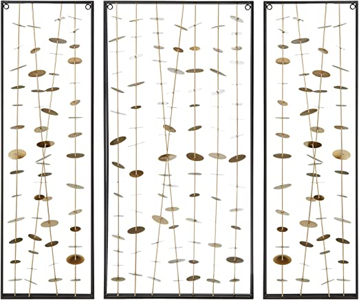 Amazon Com Madison Park Signature Clement Metal Wall Decor Set Of 3 See Below Gold Wall Art