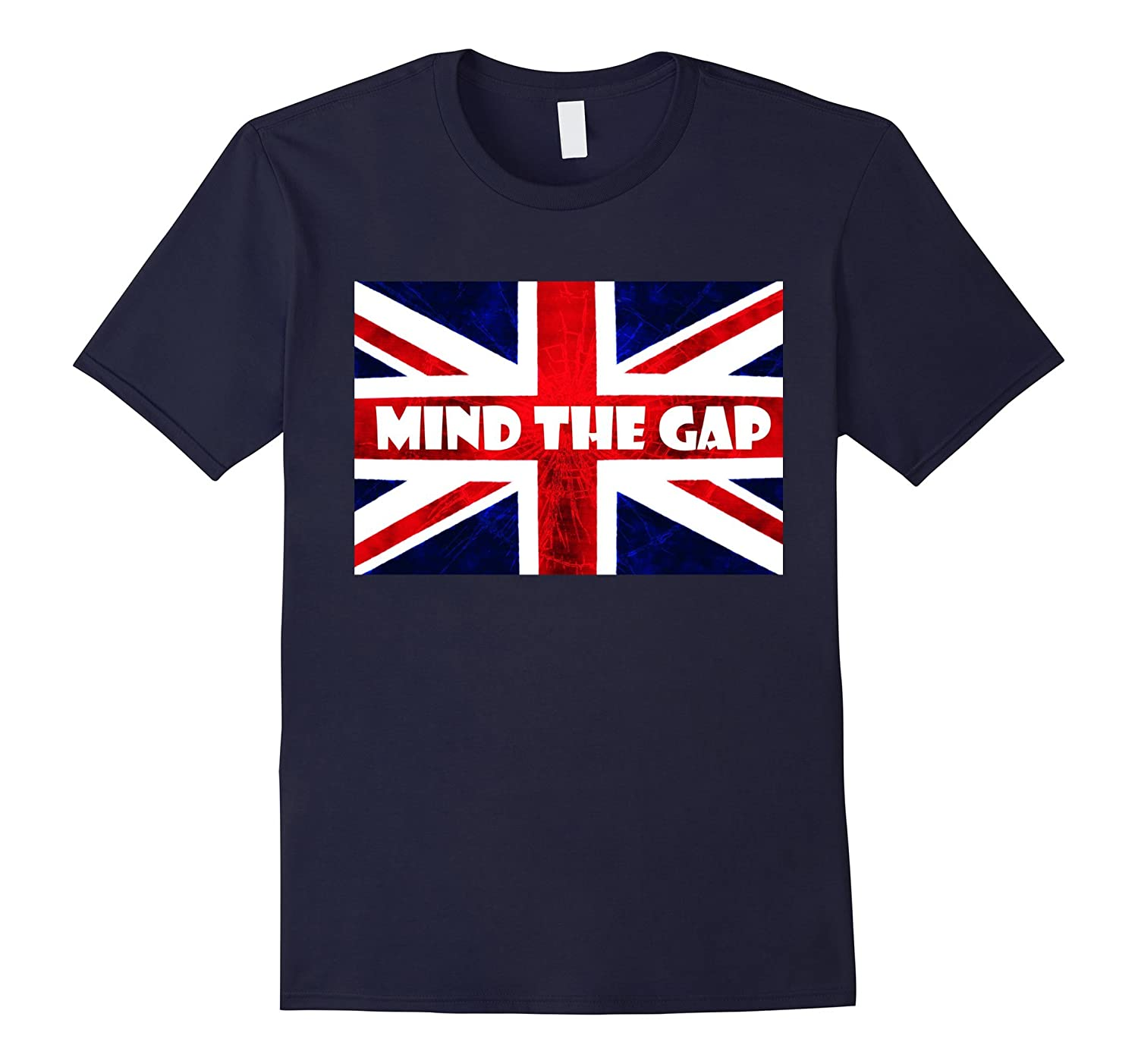 London T-Shirt - Mind The Gap UK British London T Shirts-CD