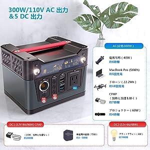 Rockpals 280Wh AC出力300W ポータブル電源