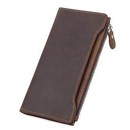 5249bc233d17 Amazon.com: NHGY Men's wallet, medium - long leather wallet: Sports ...
