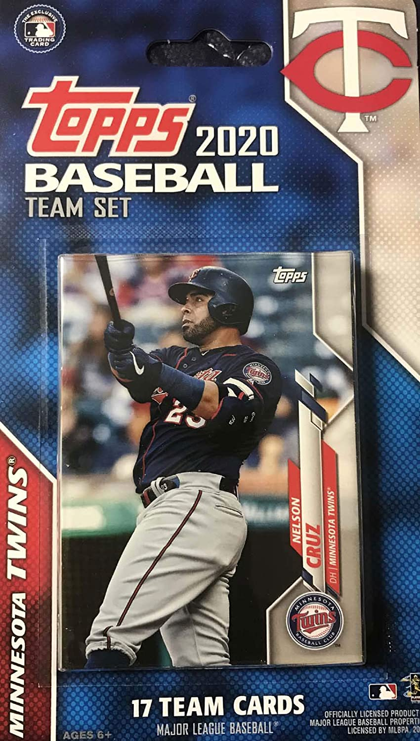 Factory Sealed Team Set Minnesota Twins 2020 Topps Sellado de fábrica Edición Especial 17 Juego de Cartas con José Berrios y Nelson Cruz Plus: Amazon.es: Deportes y aire libre